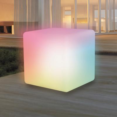 Lampada da tavolo CUPER40 , in plastica, luce colori cangianti, LED integrato IP68