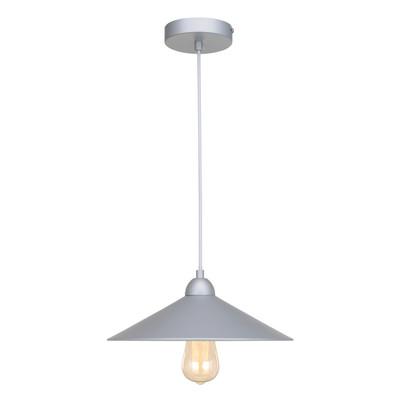 Lampadario Braga grigio, in metallo, diam. 32 cm, E27 MAX60W IP20