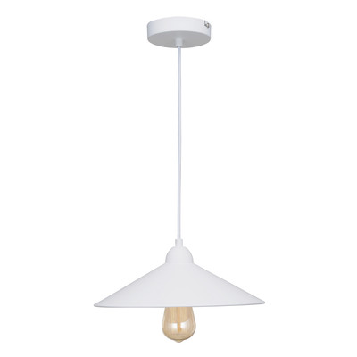 Lampadario Braga bianco, in metallo, diam. 32 cm, E27 MAX60W IP20