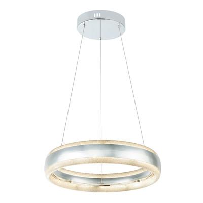 Lampadario Tully acciaio, trasparente, in acrilico, diam. 42 cm, LED integrato 24W 872LM IP20