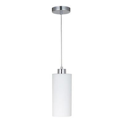 Lampadario Mena bianco, in vetro, diam. 12 cm, E27 MAX60W IP20 INSPIRE