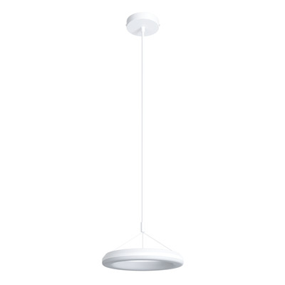 Lampadario Kuy bianco, in alluminio, diam. 25 cm, LED integrato 12W 960LM IP20 INSPIRE