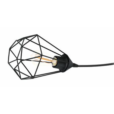 Lampada da tavolo Byron nero, in metallo, E27 MAX 40W IP20 INSPIRE