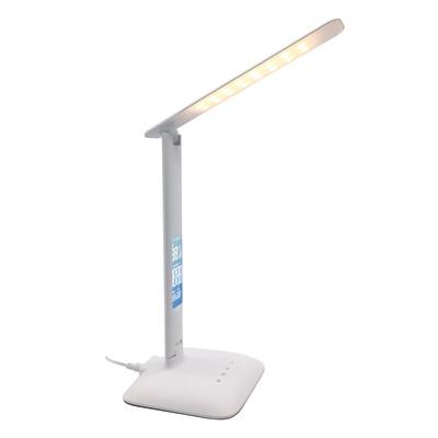 Lampada da scrivania led Orologio - Temperatura Alex bianco, in plastica, LED integrato 5W IP20 INSPIRE