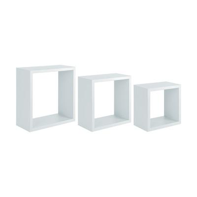Mensola a cubo L 35 x H 35 cm, Sp 18 mm bianco