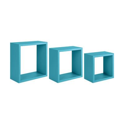 Mensola a cubo L 35 x H 35 cm, Sp 18 mm blu