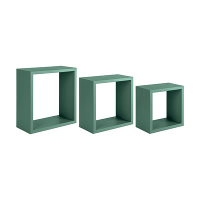 Mensola a cubo L 35 x H 35 cm, Sp 18 mm verde