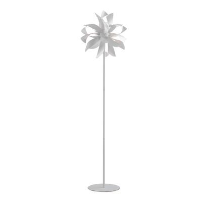 Lampada da terra Bloom bianco, in ferro, H165cm, MAX28W