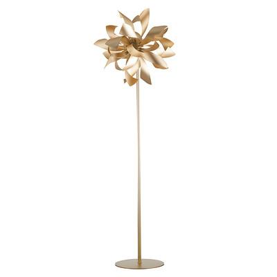 Lampada da terra Bloom oro, in alluminio, H165cm, MAX28W