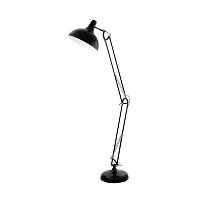Lampada da terra Borgillio nero, in metallo, H190cm, MAX60W EGLO