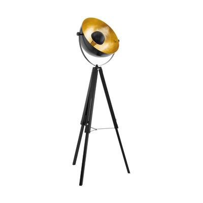 Lampada da terra Covaleda nero, oro, in metallo, H164cm, MAX60W EGLO