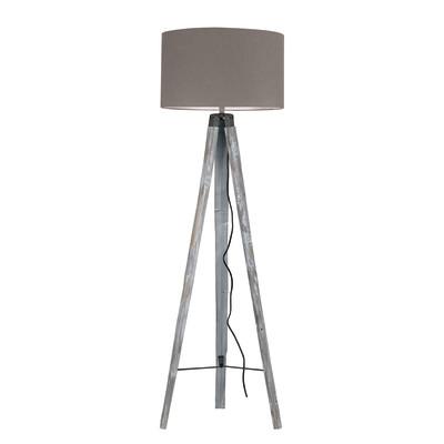 Lampada da terra Gallery tortora, in legno, H156cm, MAX60W