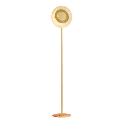 Lampada da terra Lauren dorato, in acciaio, H150cm LED integrato 12W 680LM WOFI
