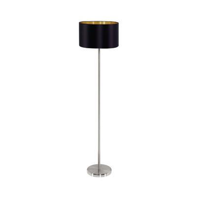 Lampada da terra Maserlo nickel, in metallo, H151cm, MAX60W EGLO