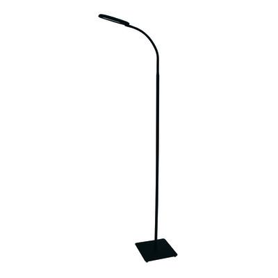Lampada da terra Mei touch nero, in metallo, H140cm LED integrato 5W 560LM INSPIRE