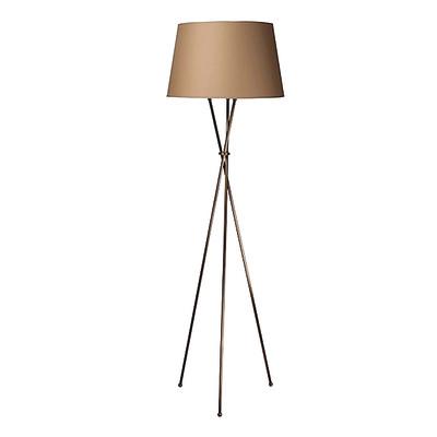 Lampada da terra tripo marrone, in ferro, H165cm E27 110W