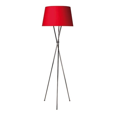 Lampada da terra tripo rosso, in ferro, H165cm E27 110W
