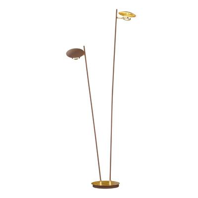 Lampada da terra Nogan dorato, in metallo, H150cm LED integrato 5W 800LM WOFI