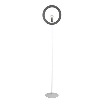 Lampada da terra Oblo' bianco, in ferro, H186cm, MAX42W