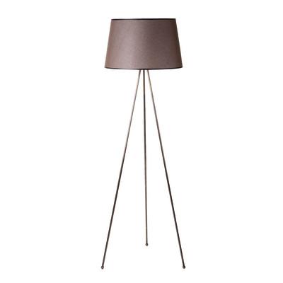 Lampada da terra Tripo marrone, in acciaio, H165cm E27 110W