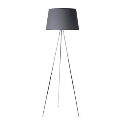 Lampada da terra Tripo grigio, in acciaio, H165cm E27 110W