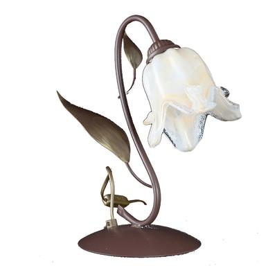 Lampada da comodino Otello oro, avorio, in vetro, E14 MAX 42W IP20