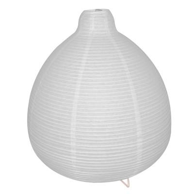 Lampada da tavolo Paz bianco, in carta, E14 MAX 40W IP20 INSPIRE