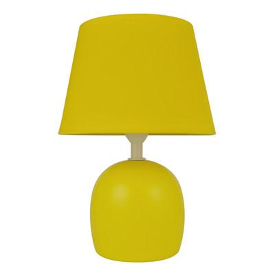 Lampada da tavolo Poki giallo, in tessuto, E14 MAX 40W IP20 INSPIRE