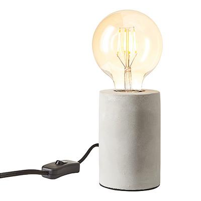 Lampada da tavolo Ralee grigio, in vetro, E27 MAX 40W IP20 INSPIRE
