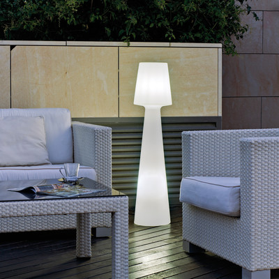 Lampada da terra Lampada da terra/piantana H110cm, in plastica, luce bianco, G13 IP65 NEWGARDEN