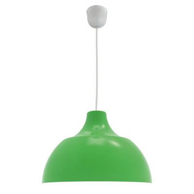 Lampadario Cono verde, in metallo, diam. 30 cm, E27 MAX53W IP20 LUMICOM