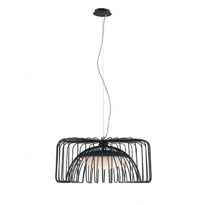 Lampadario Cougar nero, in metallo, diam. 50 cm, LED integrato 24W 1920LM IP20