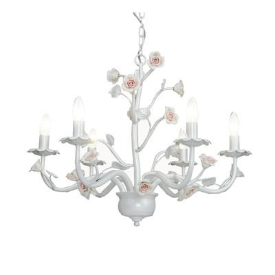 Lampadario Cupido bianco, in metallo, diam. 67 cm, E14 6xMAX28W IP20