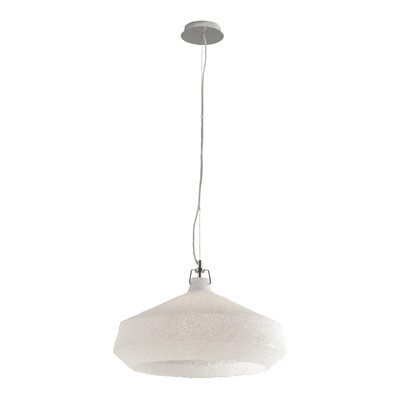 Lampadario Dea bianco, trasparente, in vetro, diam. 51.5 cm, E27 MAX42W IP20