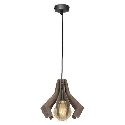 Lampadario Draco marrone, in metallo, diam. 23 cm, E27 MAX60W IP20