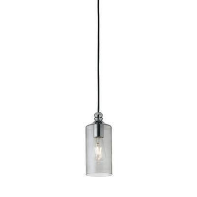 Lampadario Ebe grigio, in vetro, diam. 11 cm, E27 MAX40W IP20 SFORZIN