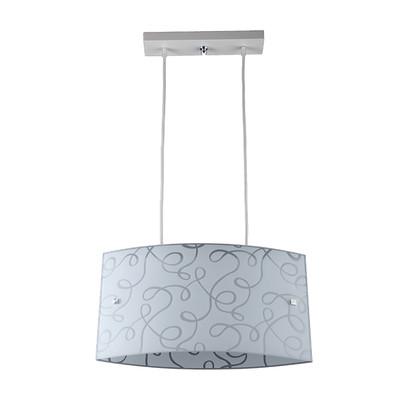 Lampadario Elle bianco, grigio, in metallo, E27 2xMAX42W IP20