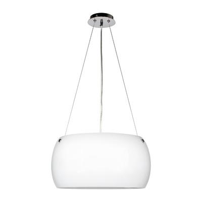 Lampadario Equatore bianco, in vetro, diam. 40 cm, E27 3xMAX60W IP20