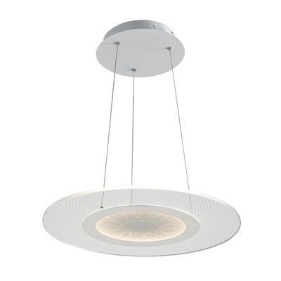 Lampadario Eternity trasparente, in acrilico, diam. 45 cm, LED integrato 34W 2720LM IP20