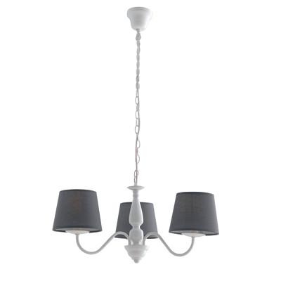 Lampadario Favola grigio, in ottone, diam. 55 cm, E14 3xMAX28W IP20