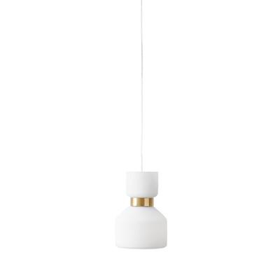 Lampadario Fifty bianco, in metallo, diam. 12 cm, E14 MAX40W IP20 SFORZIN