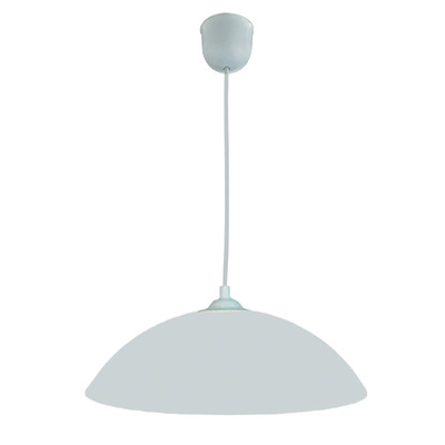 Lampadario Flash bianco, in metallo, diam. 30 cm, E27 MAX60W IP20 LUMICOM