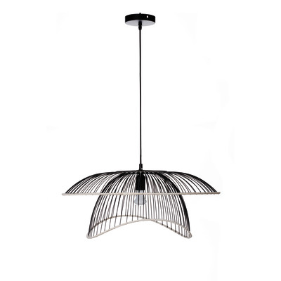 Lampadario Flore nero, in metallo, diam. 63.5 cm, E27 MAX40W IP20 LUSSIOL