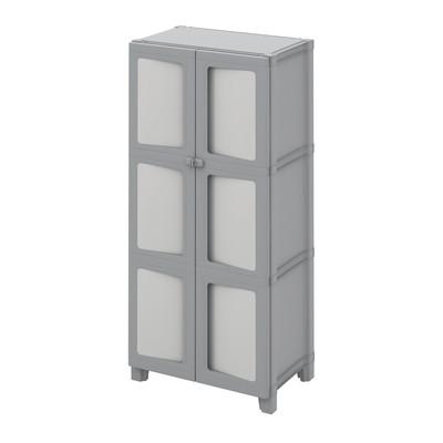 Armadio in resina Modulize L 65 x P 40 x H 138 cm grigio antracite e grigio chiaro