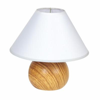 Lampada da comodino Pino bianco, in tessuto, E14 MAX 40W IP20