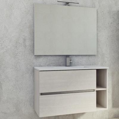 Mobile bagno Piana bianco L 90 cm