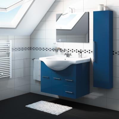 Mobile bagno Ginevra blu notte L 86 cm
