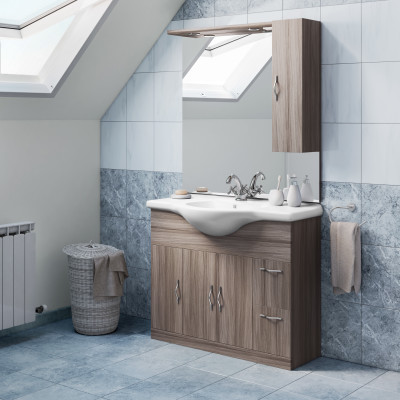Mobile bagno Blanca larice L 105 cm