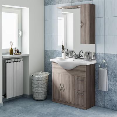 Mobile bagno Blanca larice L 85 cm