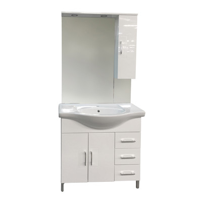 Mobile bagno Simona bianco L 80 cm